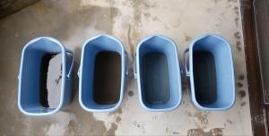 エアコン洗浄後汚水