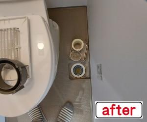 トイレ排水after
